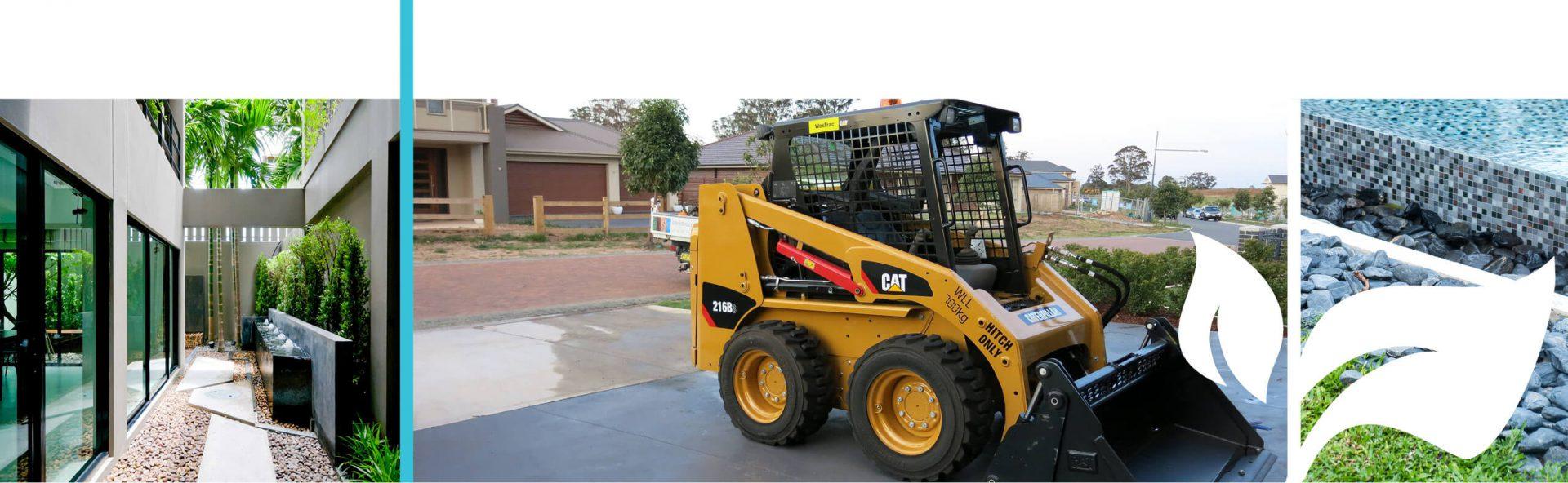 Bobcat on site for a landscape project